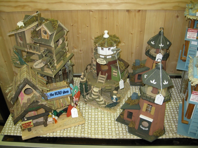 Surf Shop, Island Paradise, and Lighthouse Birdhouses